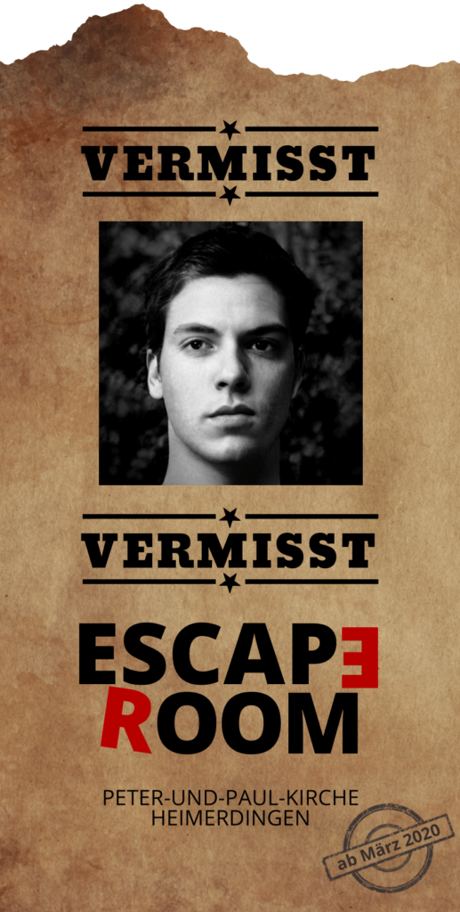 CVJM Heimerdingen - Escape Room Flyer